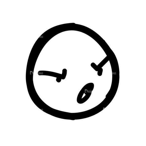 Doodle Emoticons Set 1 Vector Emoji 27 Clip Art - SVG & PNG vector