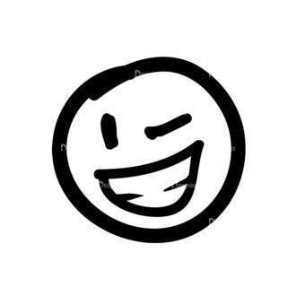 Doodle Emoticons Set 1 Vector Emoji 29 Clip Art - SVG & PNG vector