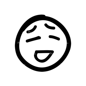 Doodle Emoticons Set 1 Vector Emoji 31 Clip Art - SVG & PNG vector
