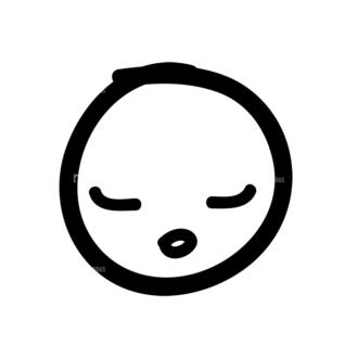 Doodle Emoticons Set 1 Vector Emoji 32 Clip Art - SVG & PNG vector