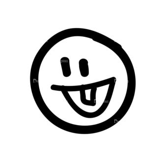 Doodle Emoticons Set 1 Vector Emoji 33 Clip Art - SVG & PNG vector
