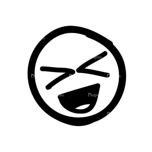 Doodle Emoticons Set 1 Vector Emoji 34 Clip Art - SVG & PNG vector