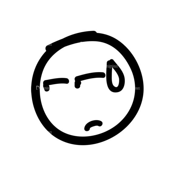 Doodle Emoticons Set 1 Vector Emoji 36 Clip Art - SVG & PNG vector