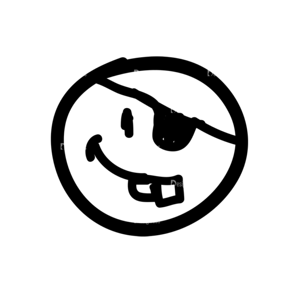 Doodle Emoticons Set 1 Vector Emoji 37 Clip Art - SVG & PNG vector