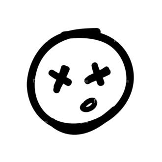 Doodle Emoticons Set 1 Vector Emoji 38 Clip Art - SVG & PNG vector