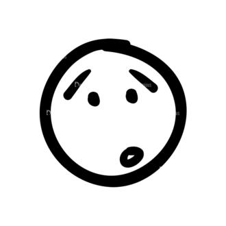 Doodle Emoticons Set 1 Vector Emoji 39 Clip Art - SVG & PNG vector