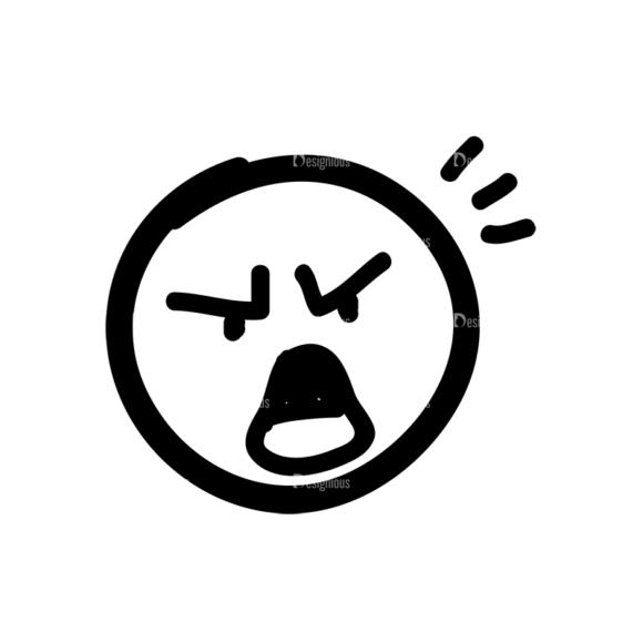 Doodle Emoticons Set 1 Vector Emoji 40 Clip Art - SVG & PNG vector