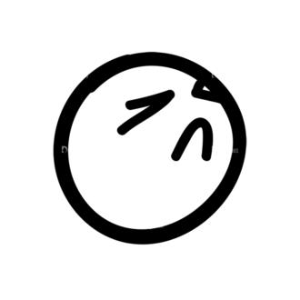 Doodle Emoticons Set 1 Vector Emoji 41 Clip Art - SVG & PNG vector