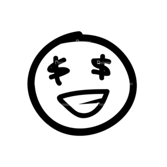 Doodle Emoticons Set 1 Vector Emoji 44 Clip Art - SVG & PNG vector