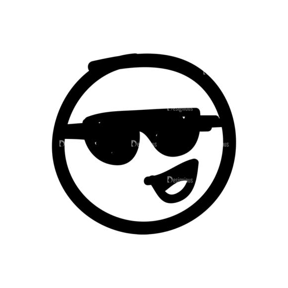 Doodle Emoticons Set 1 Vector Emoji 46 doodle emoticons set 1 vector emoji 46