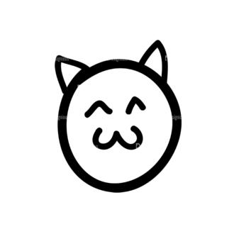 Doodle Emoticons Set 1 Vector Emoji 49 Clip Art - SVG & PNG vector