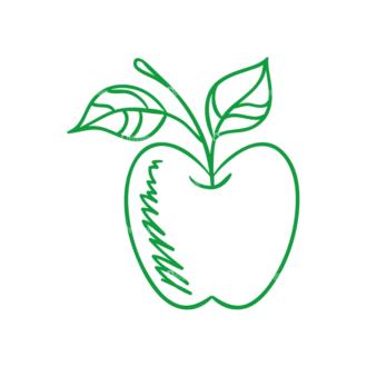 Eco Vector Set 6 Vector Apple Clip Art - SVG & PNG vector