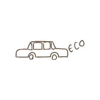 Eco Vector Set 6 Vector Car Clip Art - SVG & PNG vector