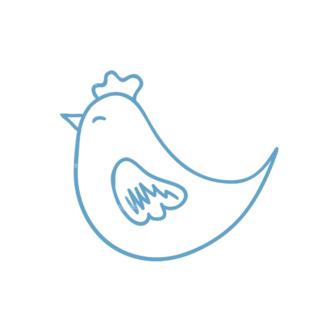 Eco Vector Set 6 Vector Chicken Clip Art - SVG & PNG vector