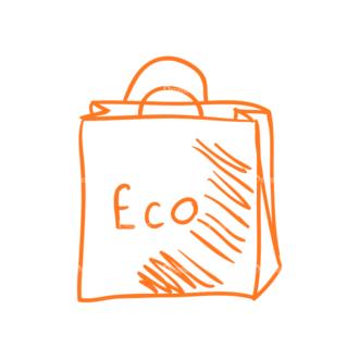 Eco Vector Set 6 Vector Ecobag Clip Art - SVG & PNG vector