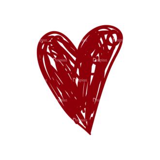 Eco Vector Set 6 Vector Heart Clip Art - SVG & PNG vector