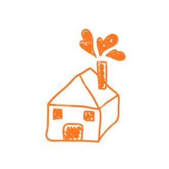 Eco Vector Set 6 Vector House Clip Art - SVG & PNG vector