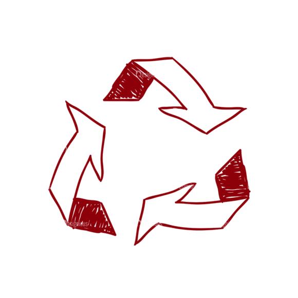 Eco Vector Set 6 Vector Recycle Clip Art - SVG & PNG vector