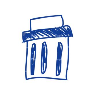Eco Vector Set 6 Vector Trash Can Clip Art - SVG & PNG vector