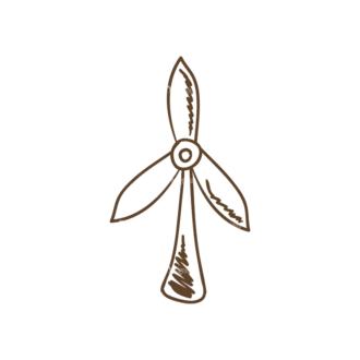 Eco Vector Set 6 Vector Windmill Clip Art - SVG & PNG vector