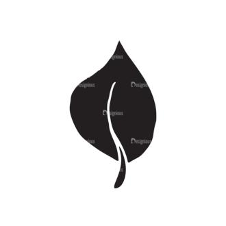 Ecology Elements Set 1 Vector Leaf Clip Art - SVG & PNG leaf