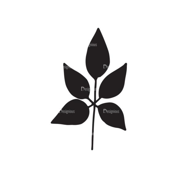 Ecology Elements Set 1 Vector Leaves Clip Art - SVG & PNG vector