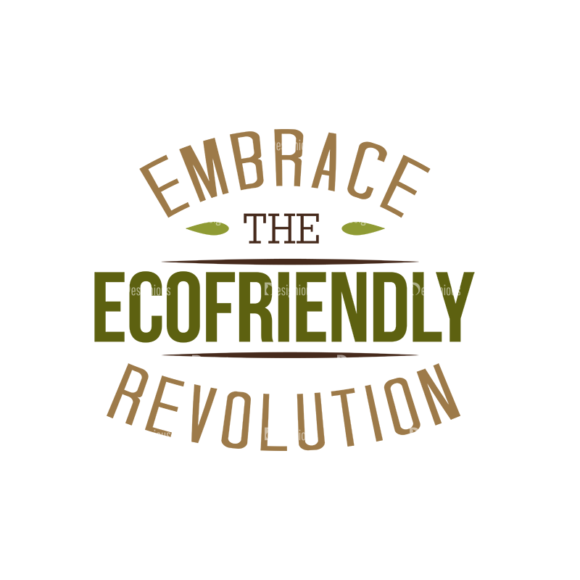 Ecology Typographic Elements 2 Vector Text 04 Clip Art - SVG & PNG vector