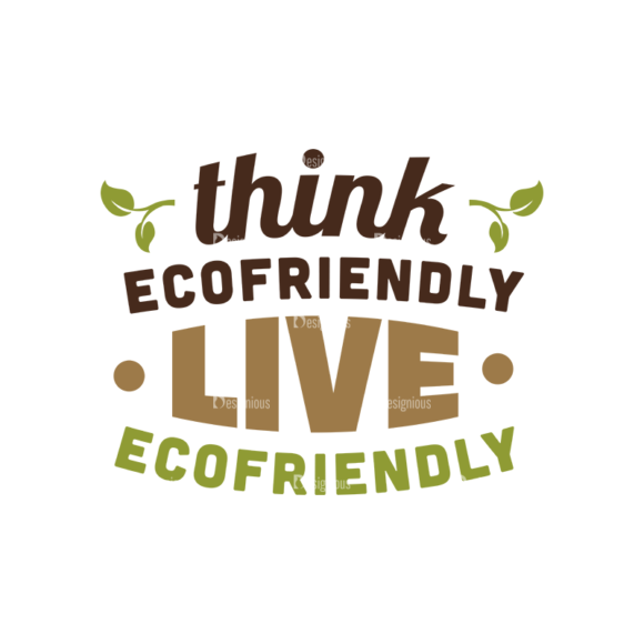 Ecology Typographic Elements 2 Vector Text 05 Clip Art - SVG & PNG vector