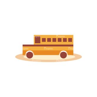 Education Vector Set 2 Vector School Bus Clip Art - SVG & PNG vector