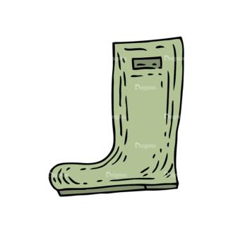 Engraved Garden Vector Set 1 Vector Boots Clip Art - SVG & PNG vector