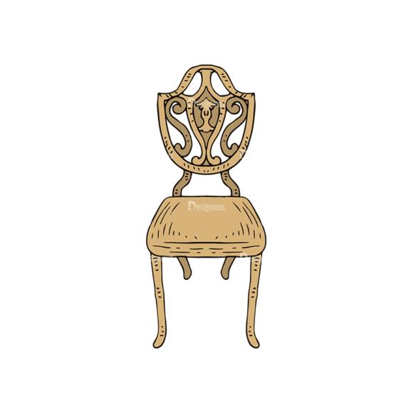 Engraved Vintage Furniture Vector Set 1 Vector Chair 03 engraved vintage furniture vector set 1 vector chair 03