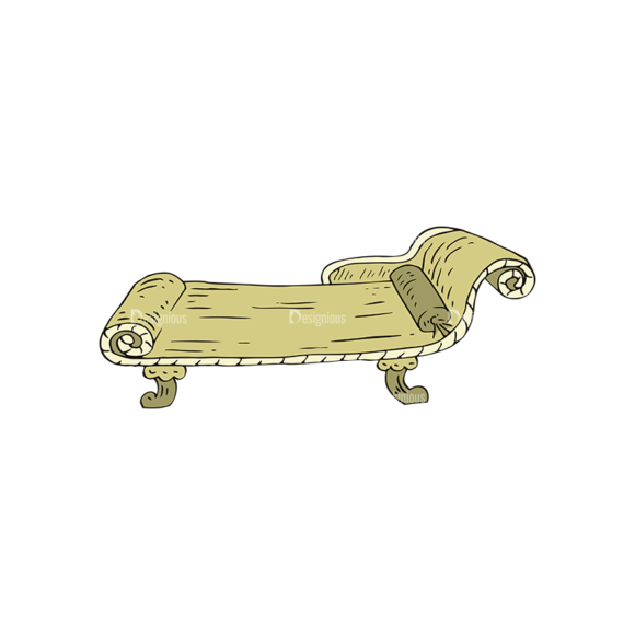 Engraved Vintage Furniture Vector Set 1 Vector Chair 06 5