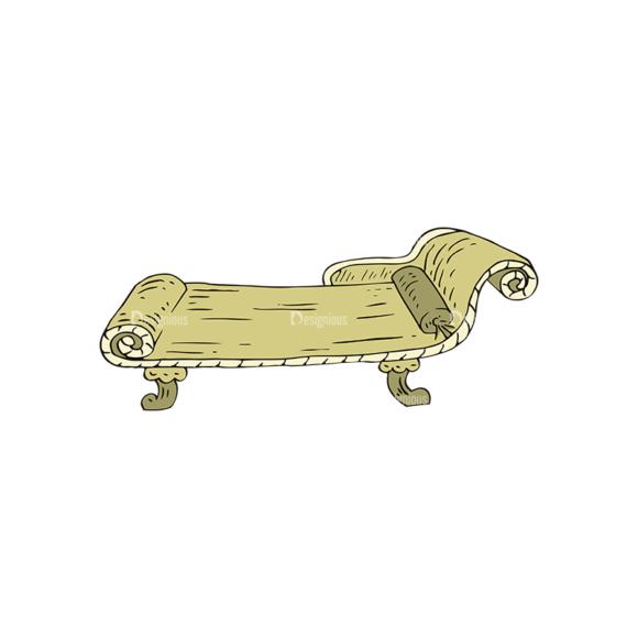 Engraved Vintage Furniture Vector Set 1 Vector Chair 06 1
