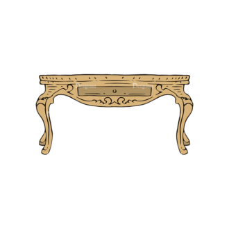 Engraved Vintage Furniture Vector Set 1 Vector Table Clip Art - SVG & PNG vector