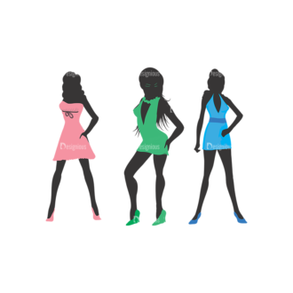 Fashion Pack 11 Preview Clip Art - SVG & PNG vector