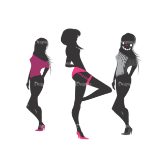 Fashion Pack 13 Preview Clip Art - SVG & PNG vector