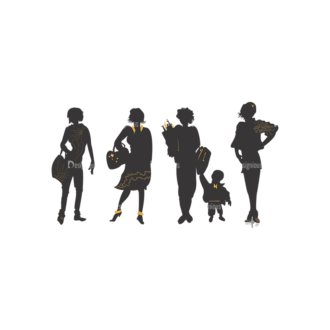 Fashion Pack 14 Preview Clip Art - SVG & PNG vector