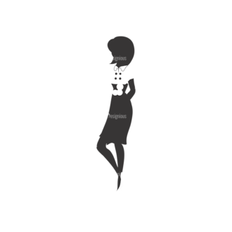 Fashion Women Pack 5 Preview Clip Art - SVG & PNG vector