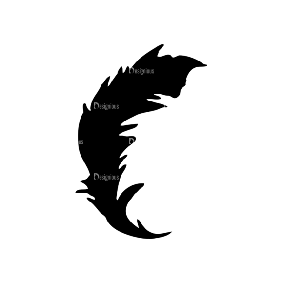 Feathers Set 11 Vector Feather 08 Clip Art - SVG & PNG vector