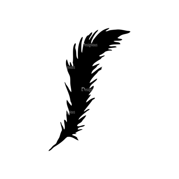 Feathers Set 11 Vector Feather 09 Clip Art - SVG & PNG vector