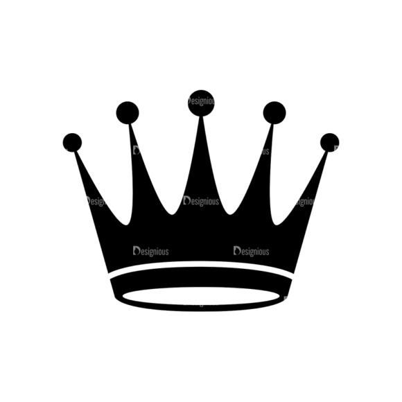 Flat Crown Icons Set 2 Vector Crown 05 Clip Art - SVG & PNG vector