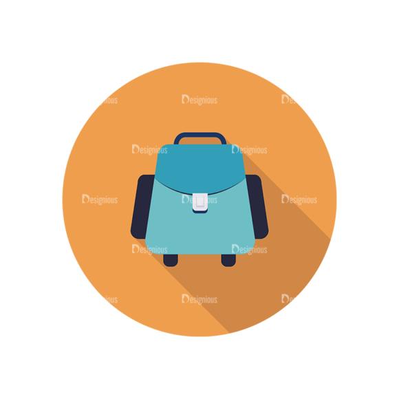 Flat Icons Set 4 Vector Bag Clip Art - SVG & PNG vector