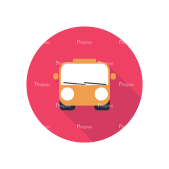 Flat Icons Set 4 Vector Bus Clip Art - SVG & PNG vector