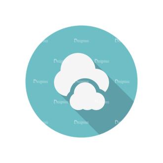 Flat Icons Set 4 Vector Cloud Clip Art - SVG & PNG vector