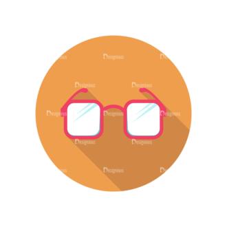 Flat Icons Set 4 Vector Eyeglasses Clip Art - SVG & PNG vector