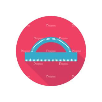 Flat Icons Set 4 Vector Ruler Clip Art - SVG & PNG vector