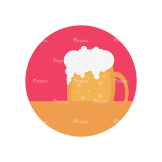 Flat Icons Set 5 Vector Beer Clip Art - SVG & PNG vector