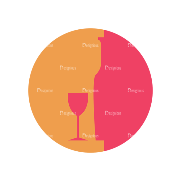 Flat Icons Set 5 Vector Wine 04 Clip Art - SVG & PNG vector