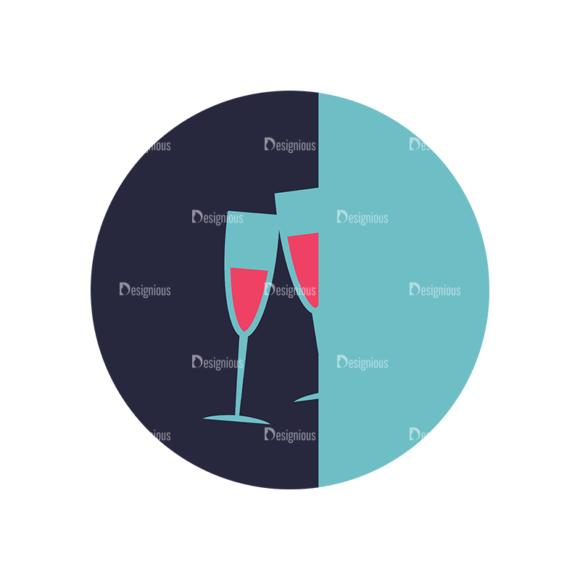 Flat Icons Set 5 Vector Wine 14 Clip Art - SVG & PNG vector