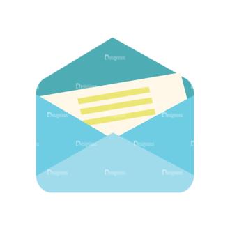 Flat Icons Vector Set 1 Vector Letter 02 Clip Art - SVG & PNG vector